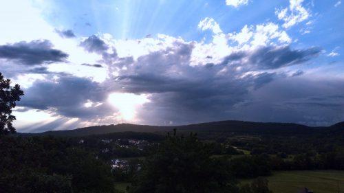 Sonnenuntergang im Taunus | Naturfreundehaus Billtalhöhe | Waldgaststätte | Königstein im Taunus