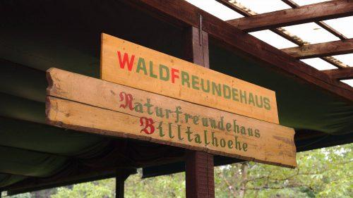 Schilder | Naturfreundehaus Billtalhöhe | Waldgaststätte | Königstein im Taunus